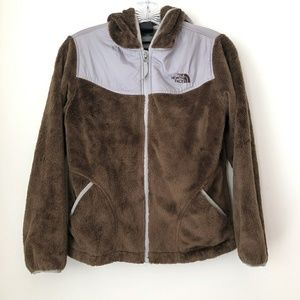 The North Face | Brown & Gray Hooded Sweater